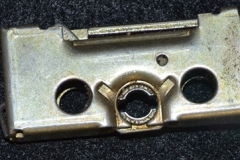 Schlage latch post holes